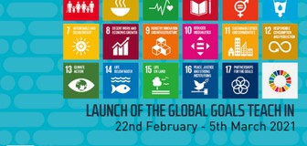 Cover image: SOS-UK's Global Goals Teach In