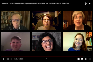 Cover image: Watch the discussion: How can teachers support climate action during lockdown?