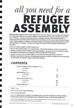 Cover image: All you need for a refugee assembly