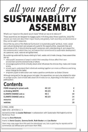 Cover image: All you need for a sustainability assembly