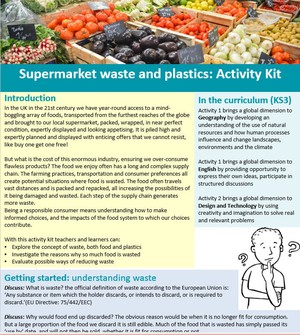 Cover image: Supermarket waste and plastic