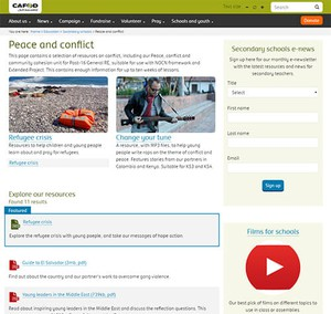 Cover image: CAFOD Peace and Conflict Resources (Secondary)