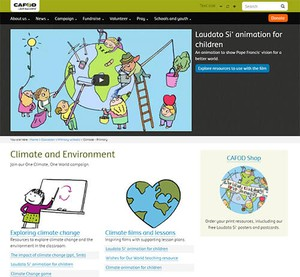 Cover image: CAFOD Climate and Environment Resources (Primary)