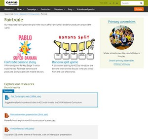 Cover image: CAFOD Fairtrade Activities (Primary)