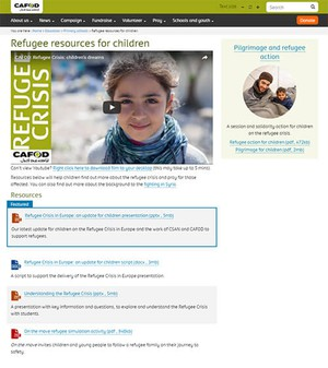 Cover image: CAFOD Refugee Resources (Primary)