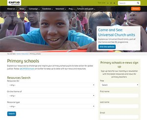 Cover image: CAFOD Primary resources website