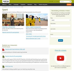 Cover image: CAFOD Sport Teaching Resources