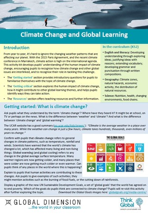 Cover image: Climate Change and Global Learning