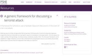 Cover image: A generic framework for discussing a terrorist attack