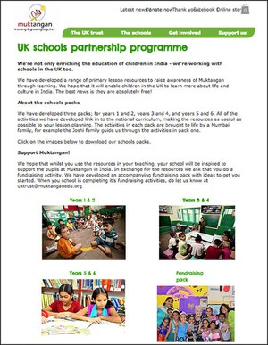 Cover image: Muktangan UK Trust primary school packs