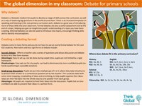 Cover image: Debate for primary schools