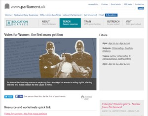 Cover image: Votes for Women: the first mass petition